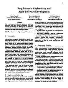 Requirements Engineering and Agile Software ... - CiteSeerX