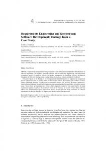 Requirements Engineering and Downstream Software Development ...
