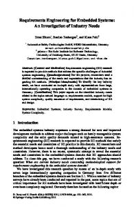 Requirements Engineering for Embedded Systems - Semantic Scholar