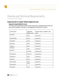 Requirements for Apple Mobile Digital Devices