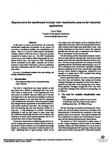Requirements for coordinated multiple view ... - IEEE Xplore