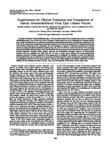 Requirements for Efficient Production and Transduction of Human ...