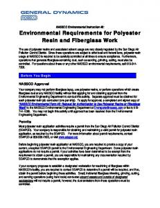 Requirements for Use of Polyester Resins/Fiberglass