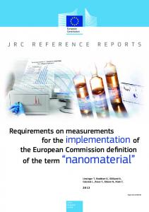 Requirements on measurements the European Commission definition