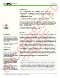 RES complex is associated with intron definition and required ... - PLOS
