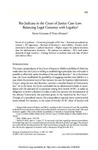 Res Judicata in the Court of Justice Case-Law - SSRN papers