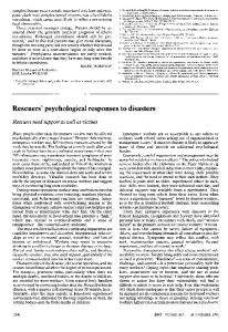 Rescuers' psychological responses to disasters - PubMed Central ...