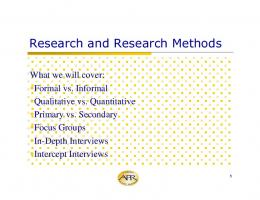 Research and Research Methods