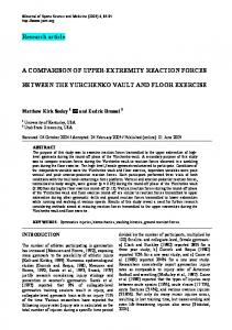 Research article A COMPARISON OF UPPER-EXTREMITY ...