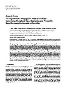 Research Article A Comprehensive Propagation