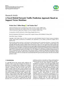 Research Article A Novel Hybrid Network Traffic Prediction Approach