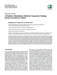 Research Article A Predictive Distribution Model for