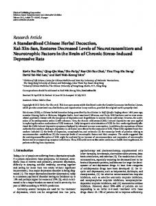 Research Article A Standardized Chinese Herbal ... - ScienceOpen