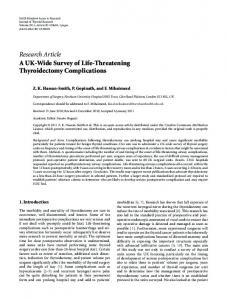Research Article A UK-Wide Survey of Life ... - ScienceOpen