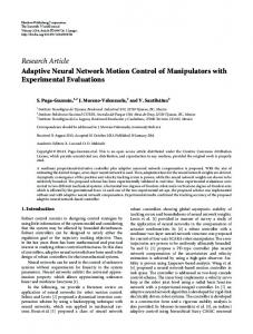 Research Article Adaptive Neural Network Motion ... - BioMedSearch