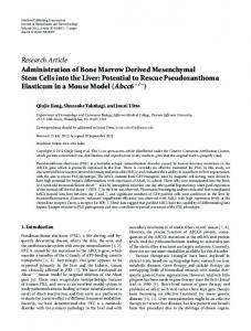 Research Article Administration of Bone Marrow ... - BioMedSearch