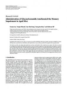 Research Article Administration of Glucosylceramide ... - ScienceOpen