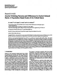 Research Article Alcohol Drinking Patterns and ... - BioMedSearch