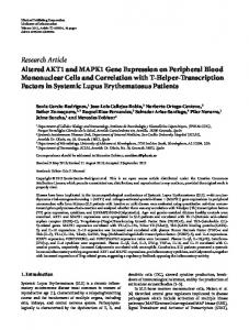 Research Article Altered AKT1 and MAPK1 Gene ... - ScienceOpen