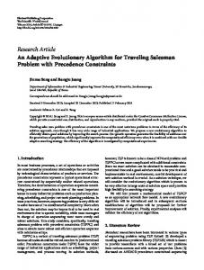Research Article An Adaptive Evolutionary Algorithm ... - BioMedSearch