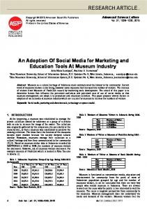 RESEARCH ARTICLE An Adoption Of Social Media