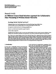 Research Article An Efficient Cluster Head Selection