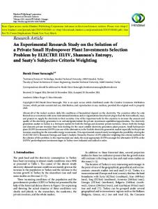 Research Article An Experimental Research Study on