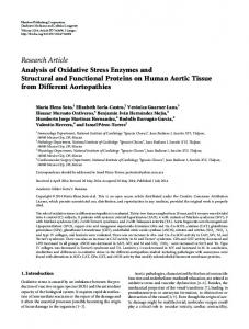 Research Article Analysis of Oxidative Stress ... - BioMedSearch