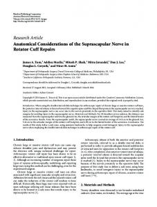 Research Article Anatomical Considerations of the ... - BioMedSearch