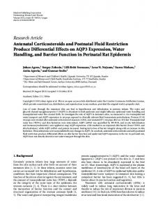 Research Article Antenatal Corticosteroids and ... - ScienceOpen