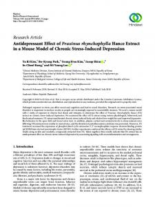 Research Article Antidepressant Effect of Fraxinus ...