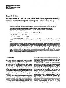 Research Article Antimicrobial Activity of Few ...