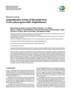 Research Article Antiproliferative Activity of ...