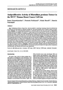 RESEARCH ARTICLE Antiproliferative Activity of Marrubium persicum ...