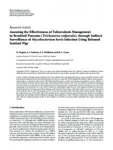 Research Article Assessing the Effectiveness of Tuberculosis ...