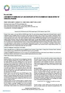 Research Article ASSESSMENT OF ... - BioInfo Publication