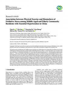 Research Article Association between Physical ...