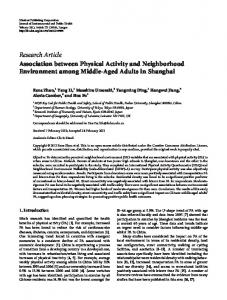 Research Article Association between Physical Activity and ...