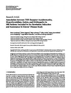Research Article Association between TSH-Receptor ... - BioMedSearch