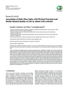 Research Article Association of Body Mass Index with
