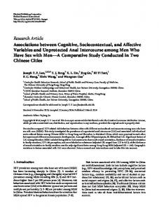 Research Article Associations between Cognitive ... - BioMedSearch