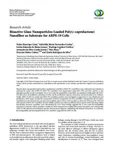 Research Article Bioactive Glass Nanoparticles-Loaded ... - Hindawi