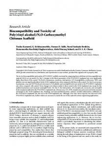 Research Article Biocompatibility and Toxicity of Poly ... - BioMedSearch
