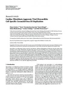 Research Article Cardiac Fibroblasts Aggravate Viral ... - BioMedSearch