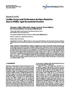 Research Article Cardiac Output and Performance during a Marathon ...