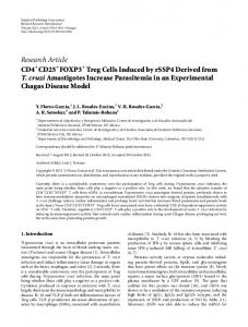 Research Article CD4 CD25 FOXP3 Treg Cells Induced by rSSP4