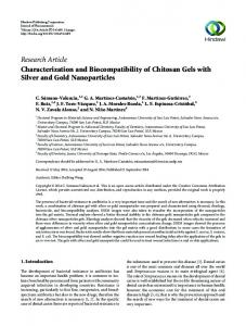 Research Article Characterization and Biocompatibility of Chitosan ...