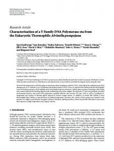 Research Article Characterization of a Y-Family DNA ... - ScienceOpen