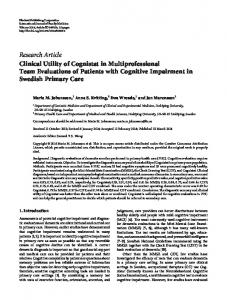 Research Article Clinical Utility of Cognistat in ...