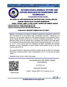 Research Article CODEN: IJPAKY Impact Factor ...